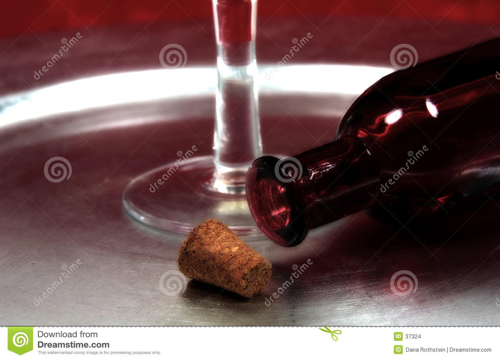 Corkand Flasche