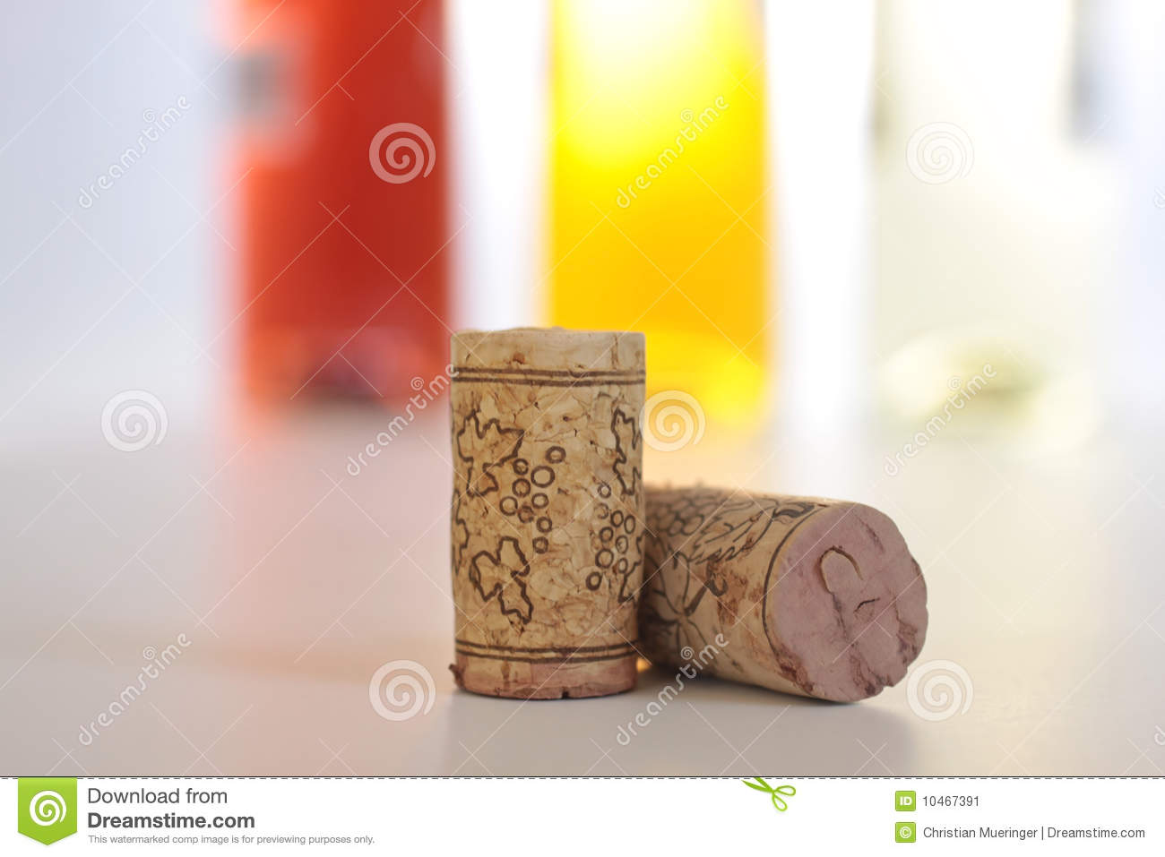 Corks with colored wine bottles stock image image 10467391 for Where to buy colored wine bottles