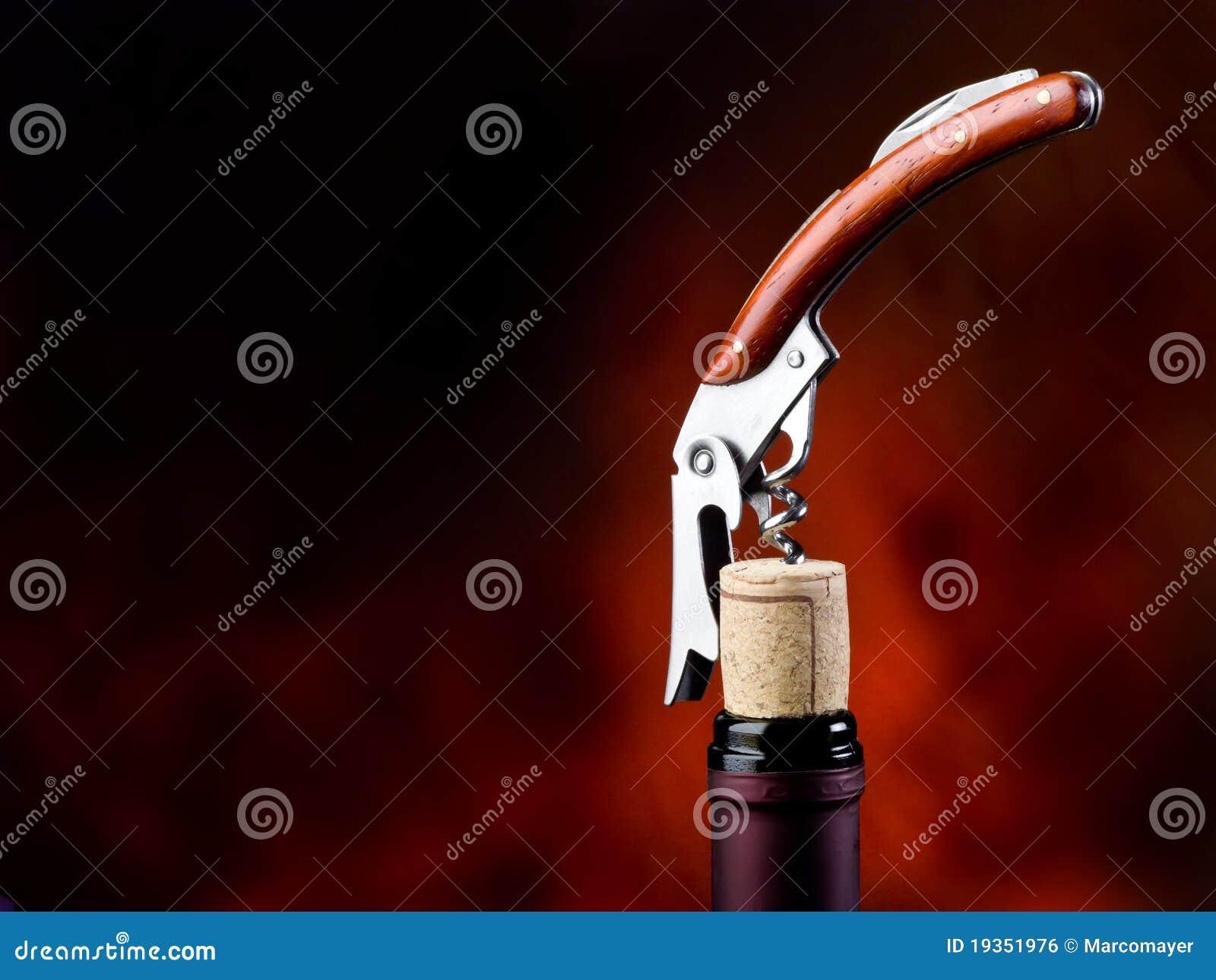 Corkscrew com frasco
