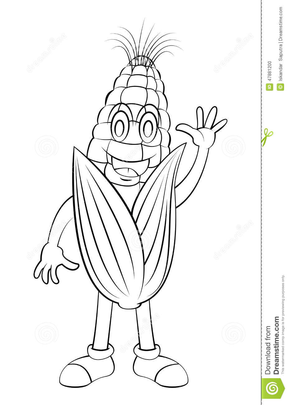 Animated Character Design In Illustrator : Corn cartoon character stock vector image of white