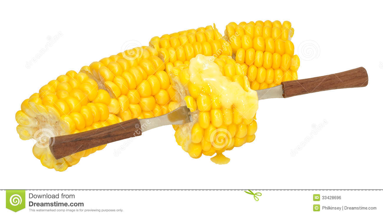 corn on the cob stock photo image of food butter forks 33428696 rh dreamstime com Butter Popcorn Corn Chowder