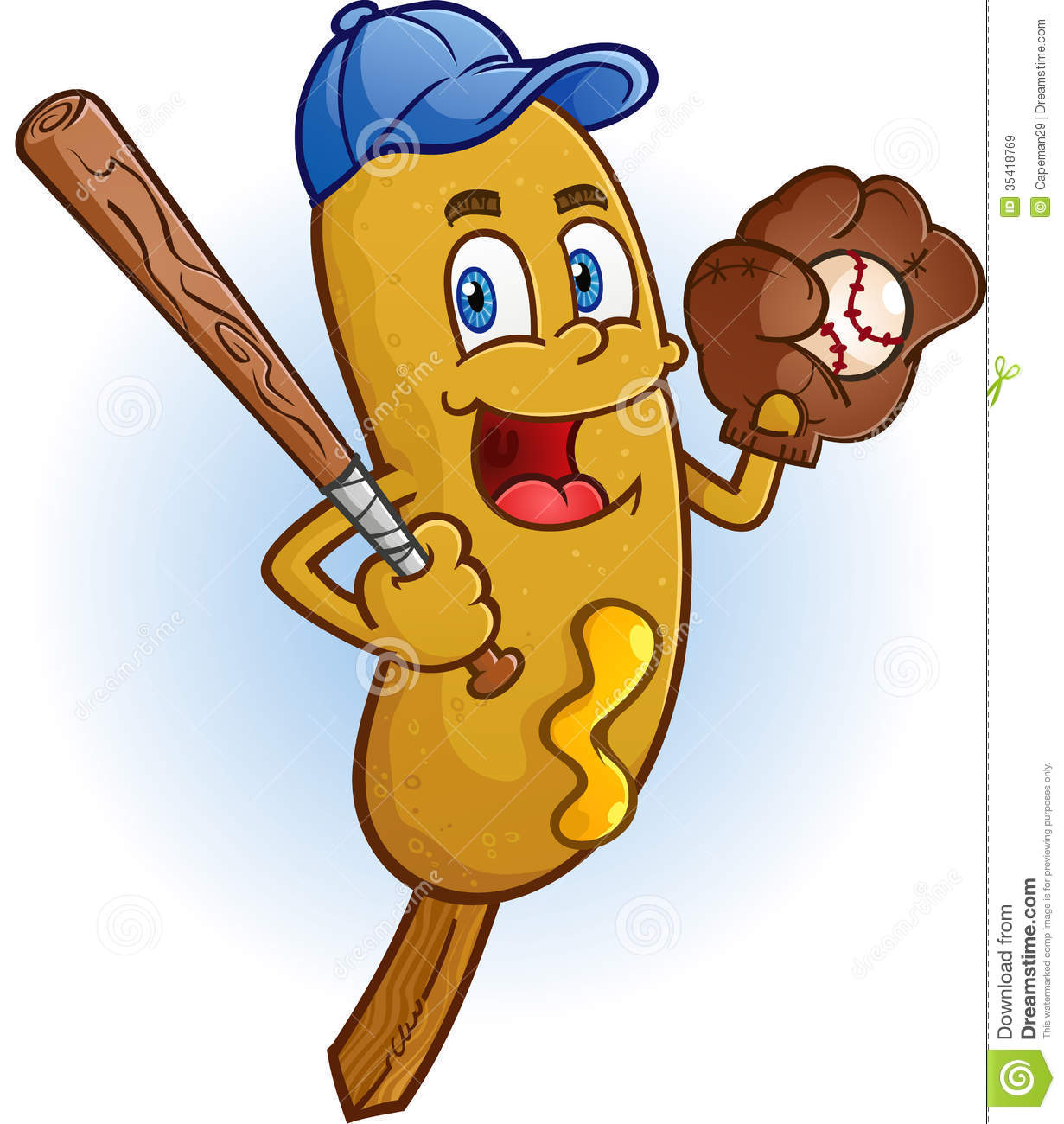 Cartoon Pictures Of Corn Dogs