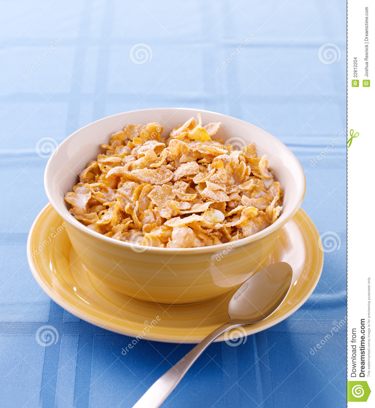 Corn Flake Cereal With Copyspace Composition. Stock Images