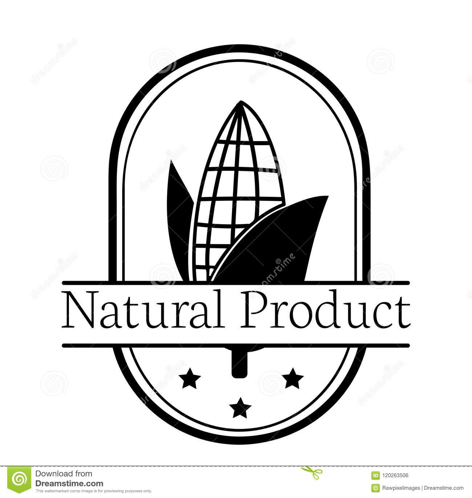corn natural product logo illustration stock illustration Logos Starting with G corn natural product logo illustration