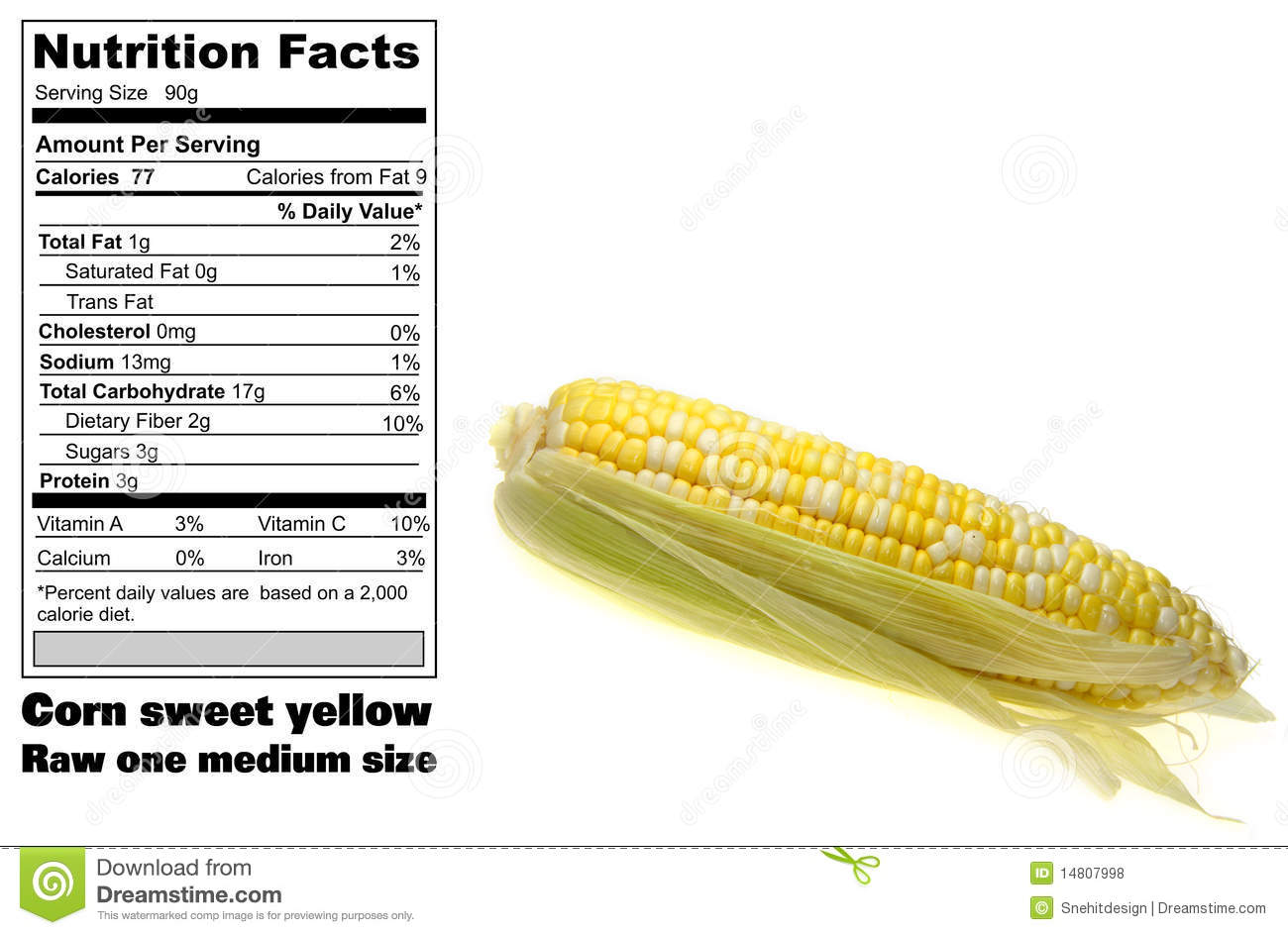 Nutrition Facts Corn Photos Free Royalty Free Stock Photos From Dreamstime