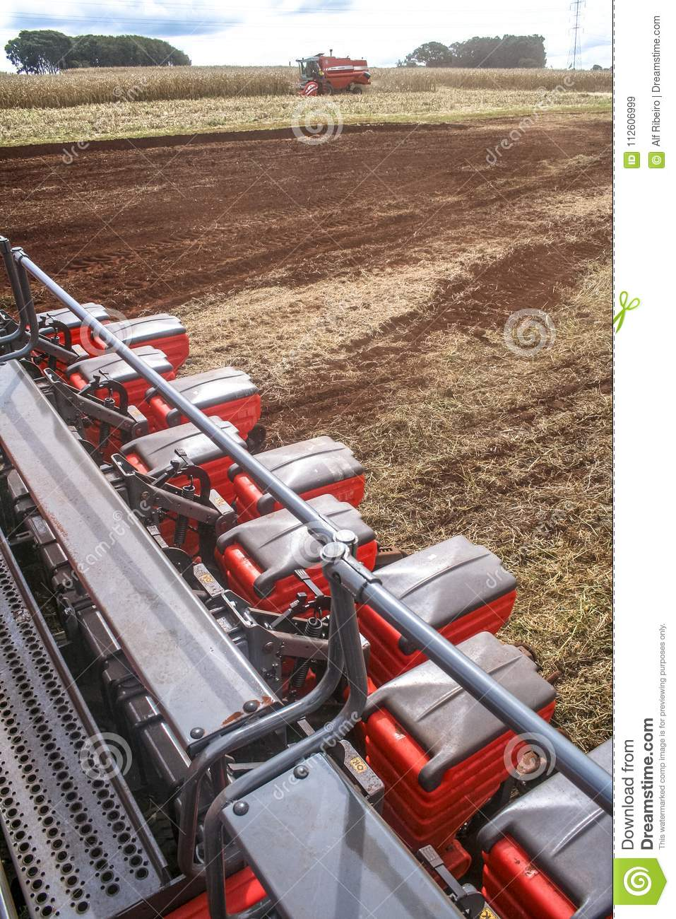 Corn Planting And Soy Harvesting