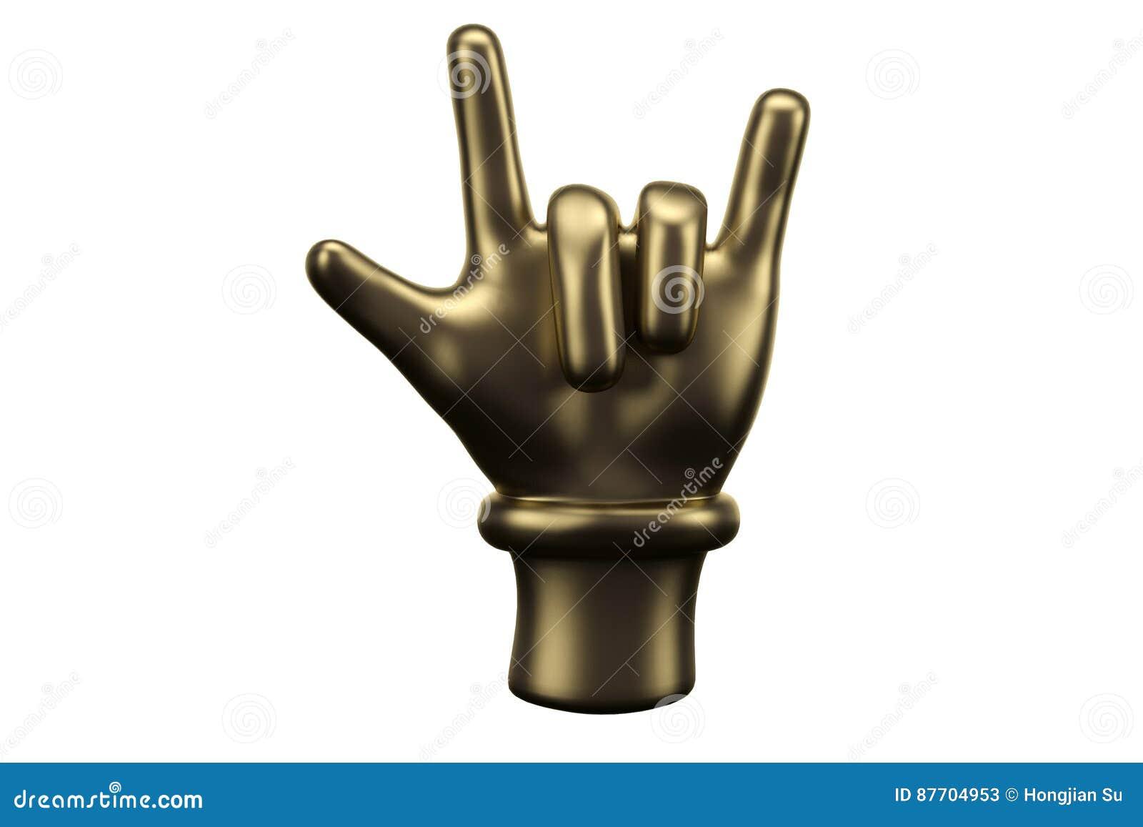 Corna d or, doigt de roche illustration 3D