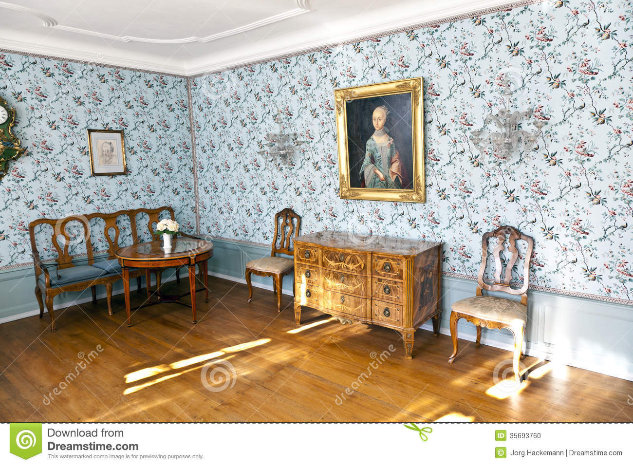 cornelia goethes raum im goethe haus in frankfurt am main redaktionelles bild bild 35693760. Black Bedroom Furniture Sets. Home Design Ideas