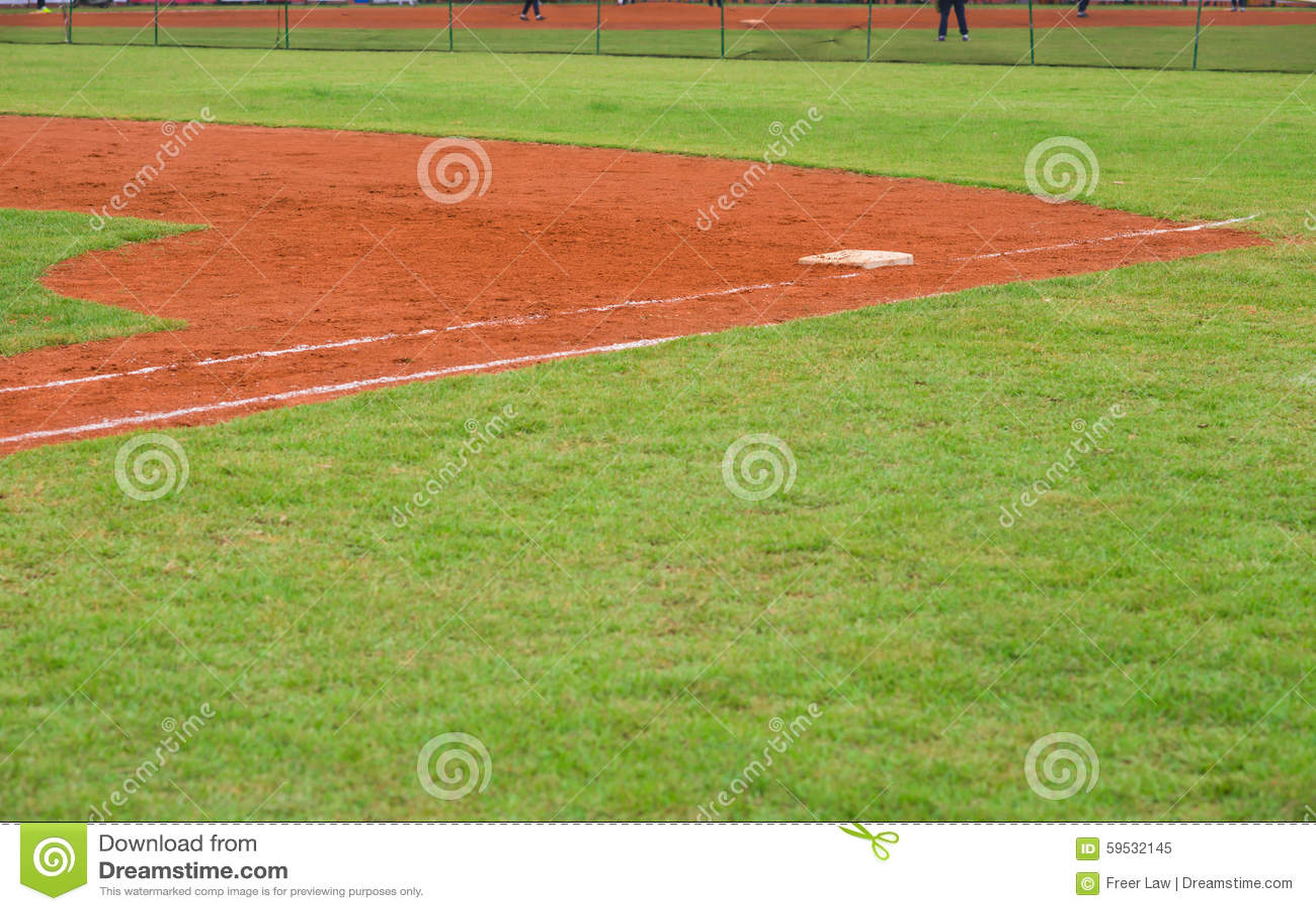 Corner of baseball field