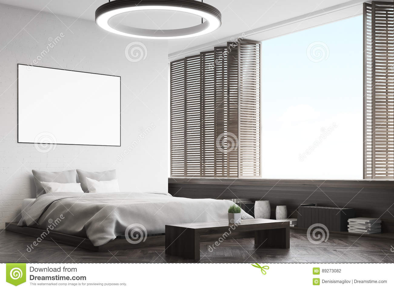 Enjoyable Corner Of A Black Bedroom With A Bench Stock Illustration Camellatalisay Diy Chair Ideas Camellatalisaycom
