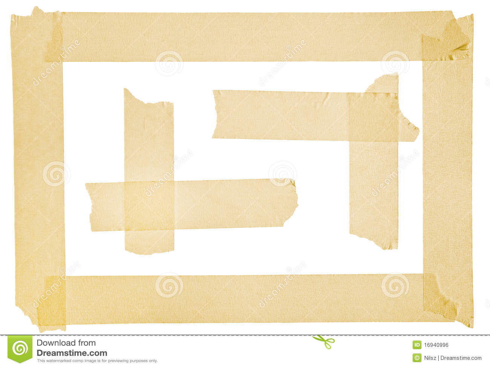 Corner And Border From Masking Tape Stock Photo Image