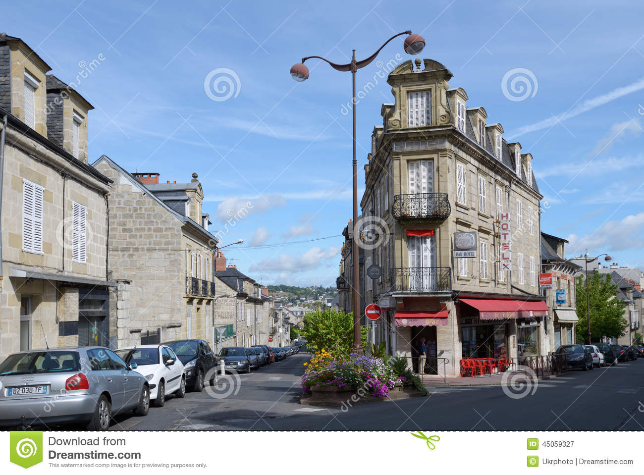 corner building in brive la gaillarde france editorial photography image of restaurant brive. Black Bedroom Furniture Sets. Home Design Ideas