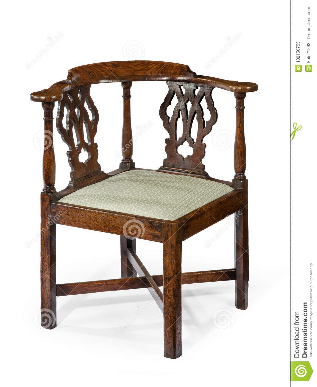 Download Corner Chair Old Antique Wooden Mahogany Stock Image - Image of  home, chair: - Corner Chair Old Antique Wooden Mahogany Stock Image - Image Of Home