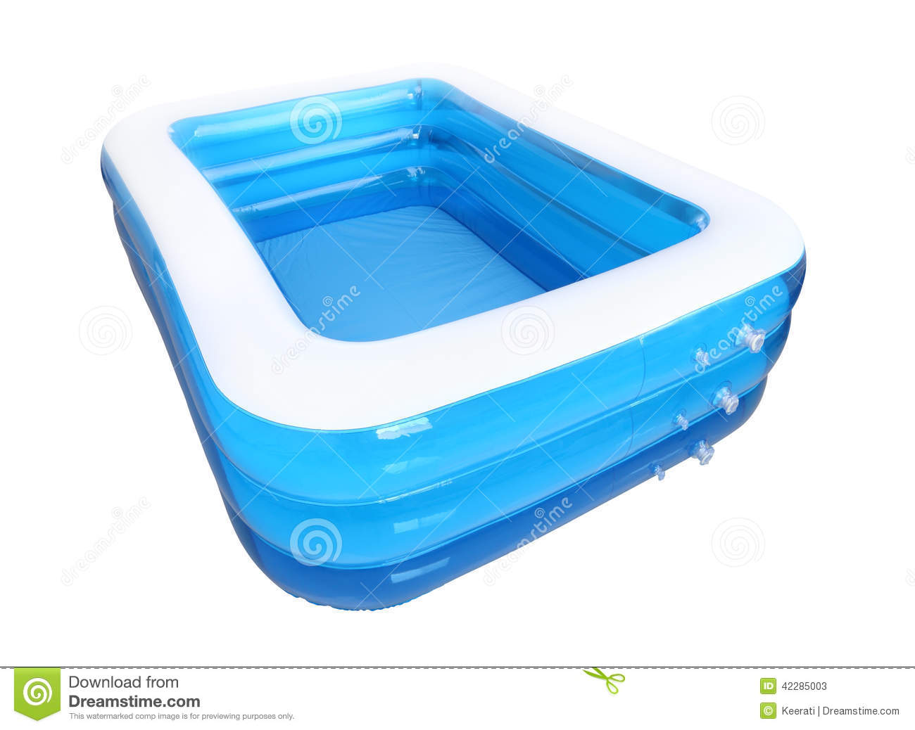 Rubber Swimming Pools : Corner empty inflatable rubber pool stock photo image