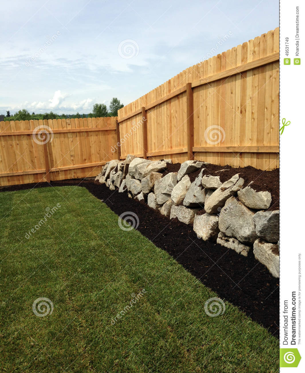corner fence stock photo image 49531749