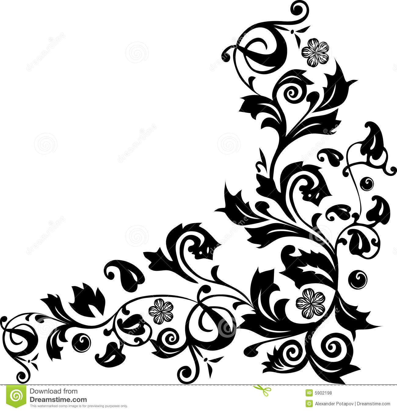 corner with flower ornament stock vector illustration of abstract ornamental 5902198 dreamstime com