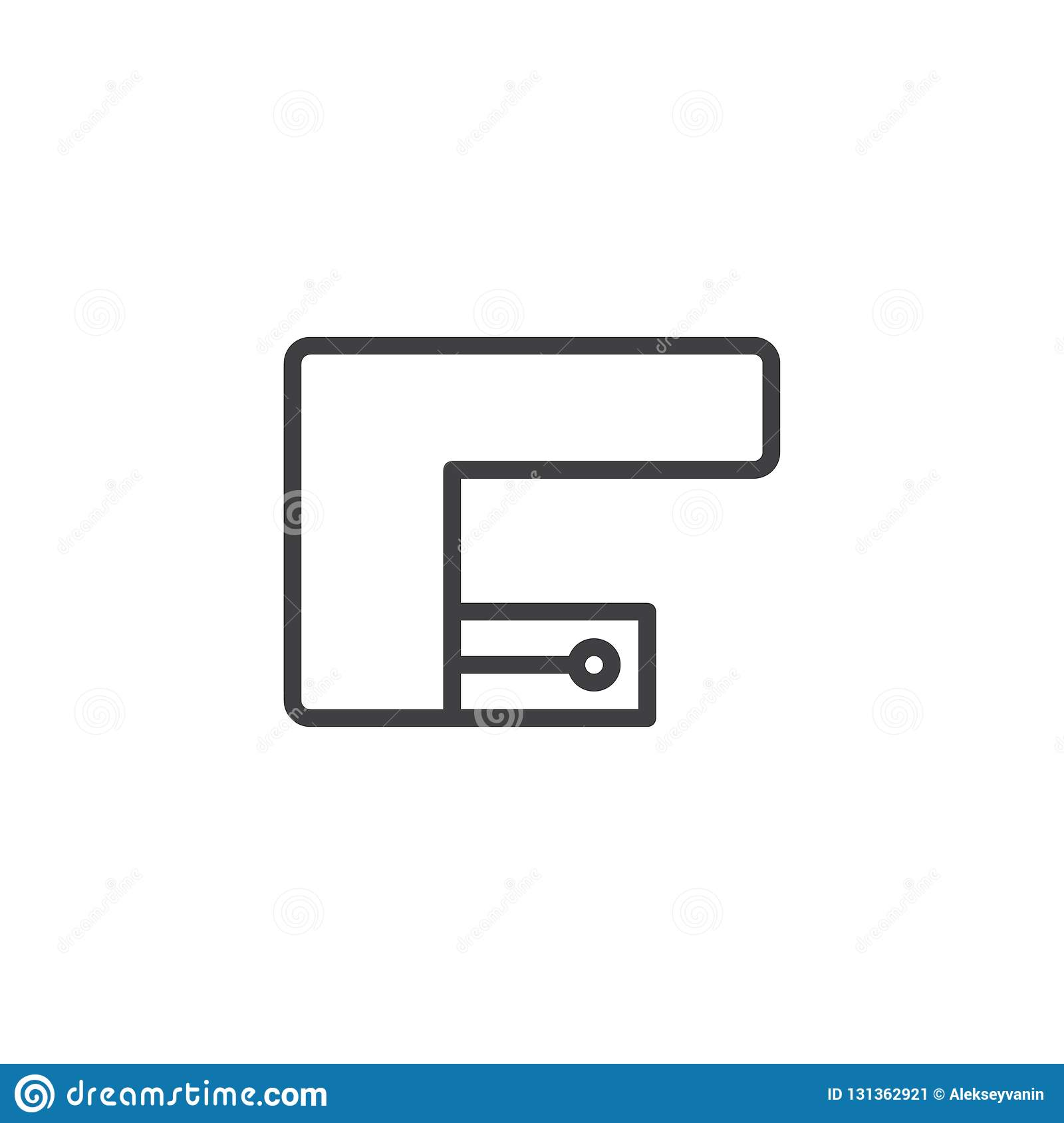 Corner Kitchen Top View Outline Icon Stock Vector Illustration Of