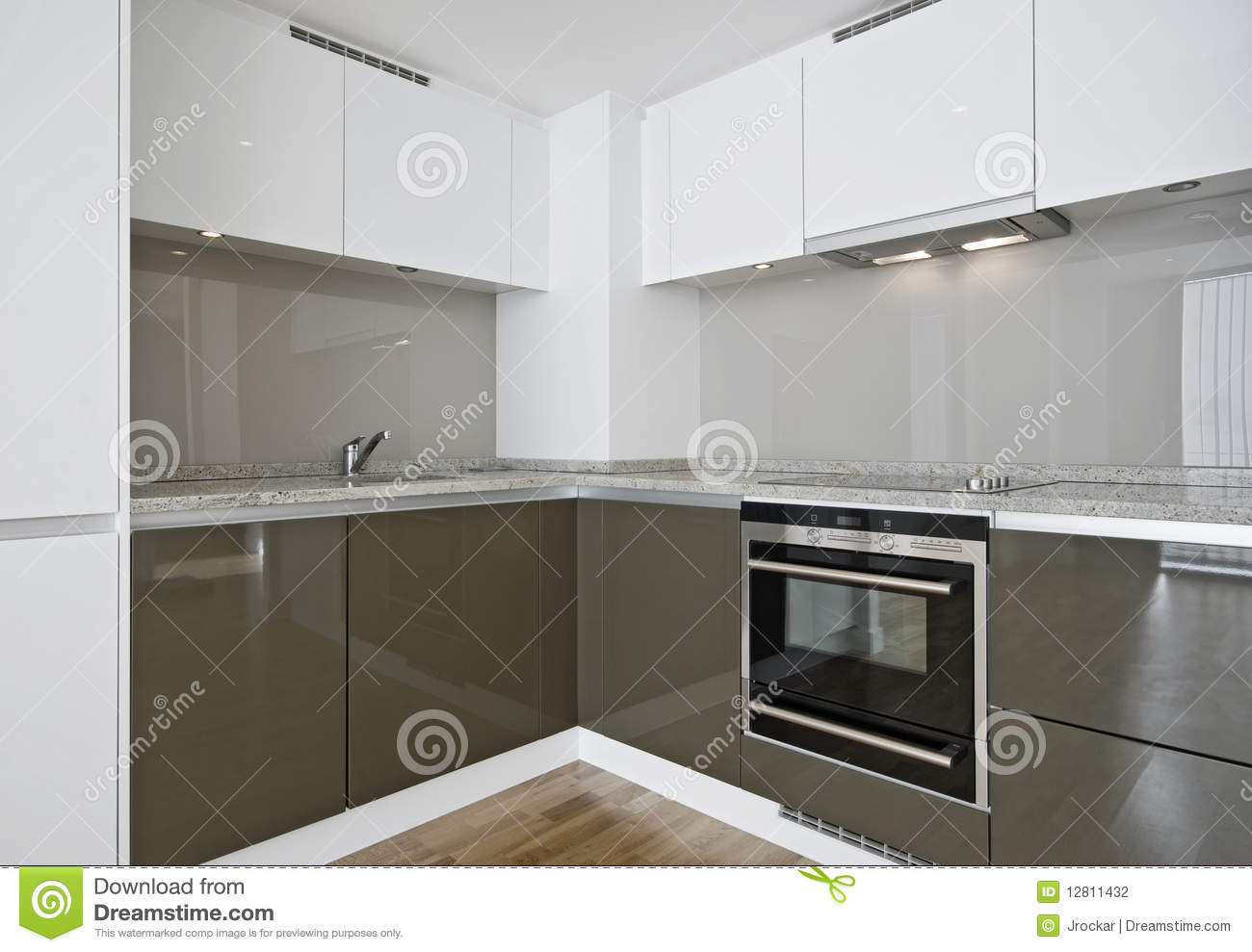 Corner Kitchen Unit Stock Photo Image Of Domestic Hood