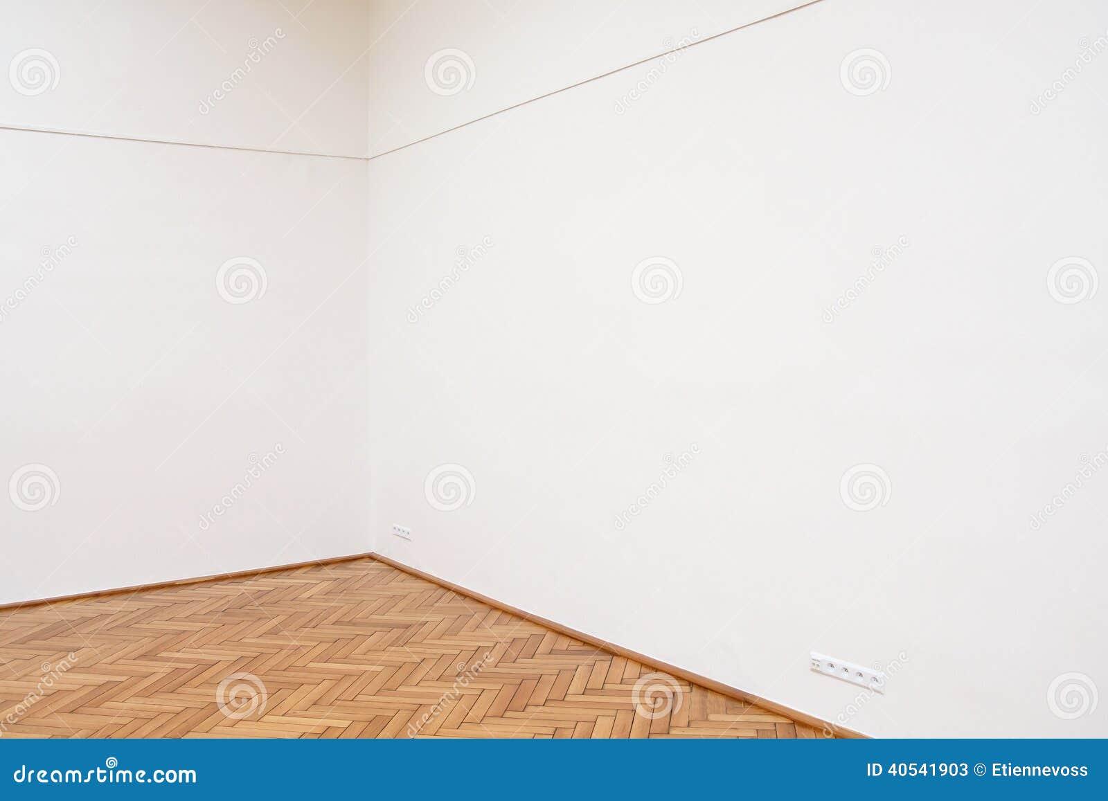 Corner Large White Wall Wooden Floor Tiles