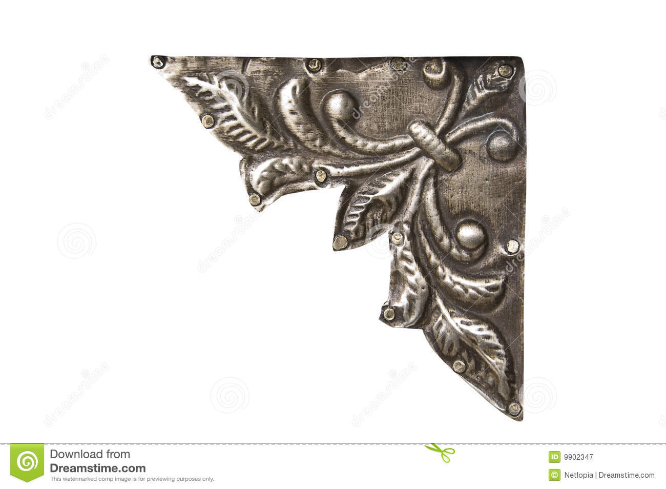 Corner metal ornament royalty free stock photography