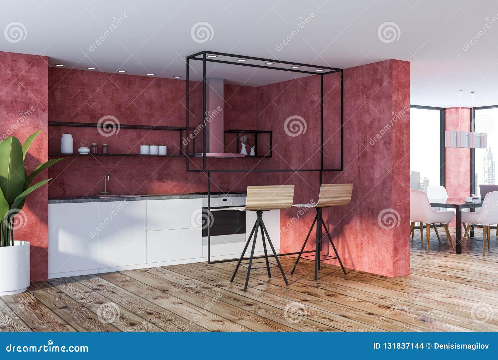 Sensational Red Kitchen Corner Stools Stock Illustration Illustration Ibusinesslaw Wood Chair Design Ideas Ibusinesslaworg