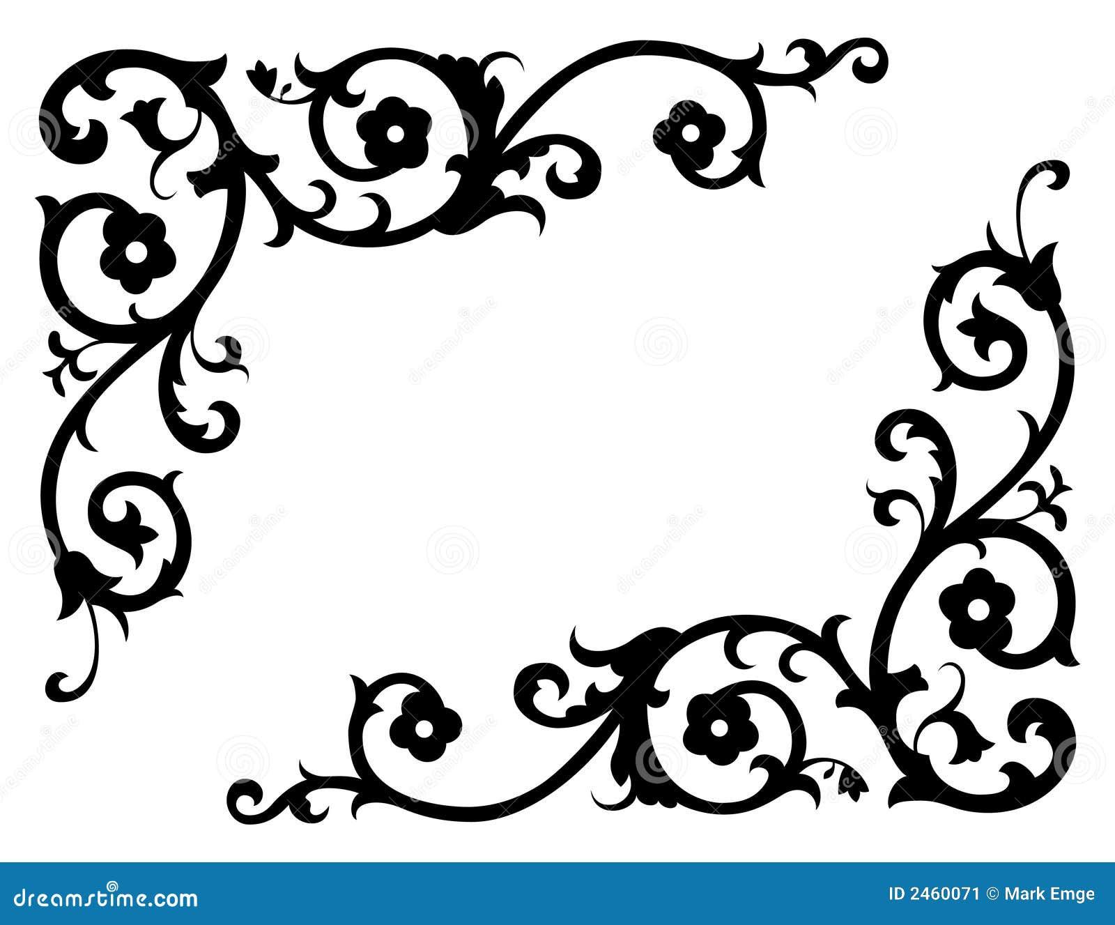Corner Scroll Designs: Corner Renaissance Vector 2 Stock Image