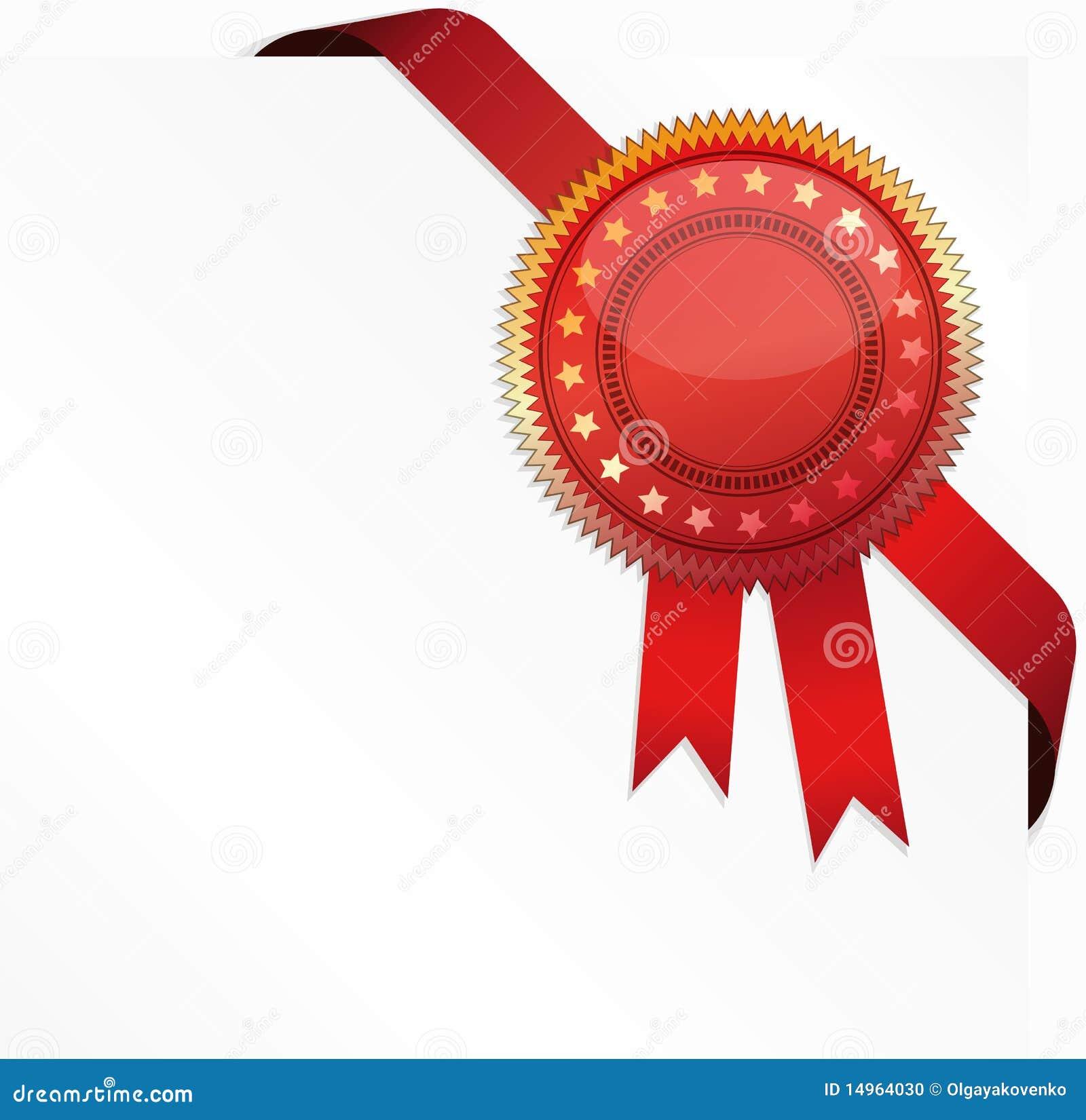corner ribbon and quality certificate illustration 14964030 megapixl