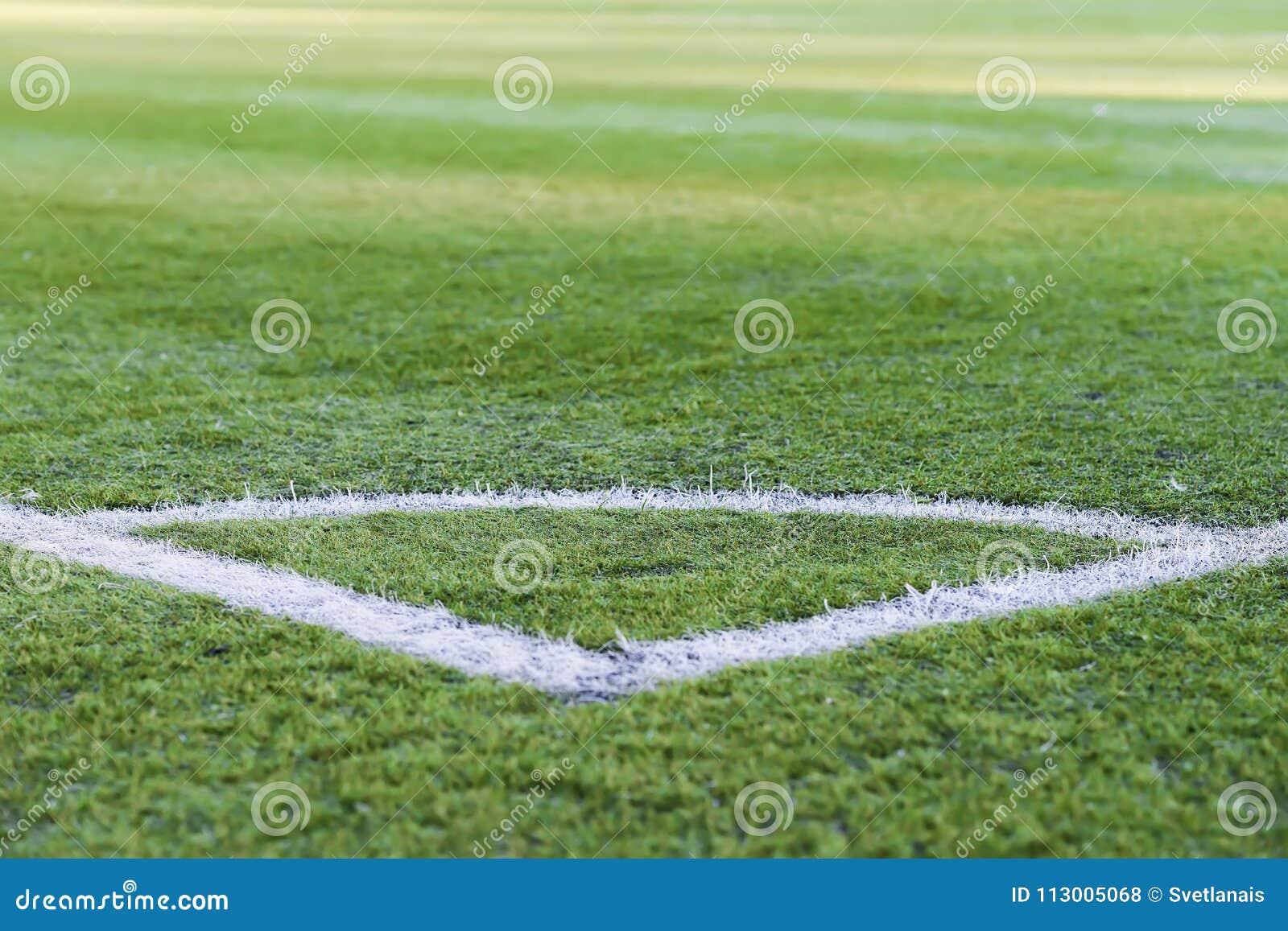 green grass football field. Corner Of Soccer Field, Pattern Green Grass For Football Sport, Football, Sport Texture, Selective Focus Stock Photo - Image Backdrop, Grid: 113005068 Field