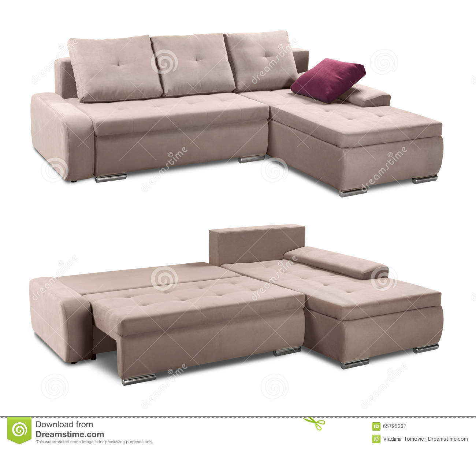 pillows on a sofa stock image