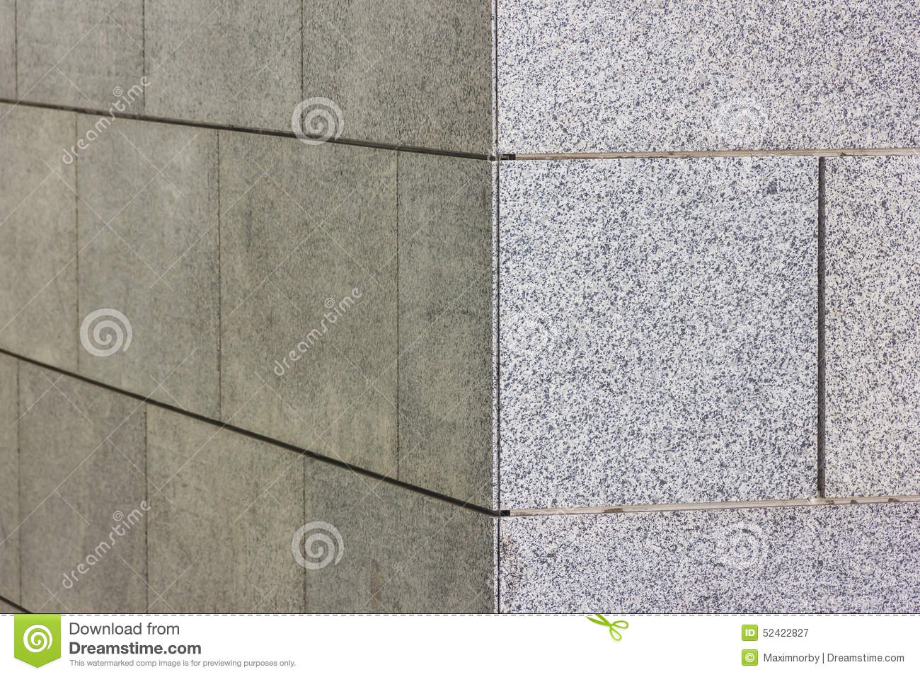 Corner Of A Wall With Granite Tiles Stock Image - Image of aged ...