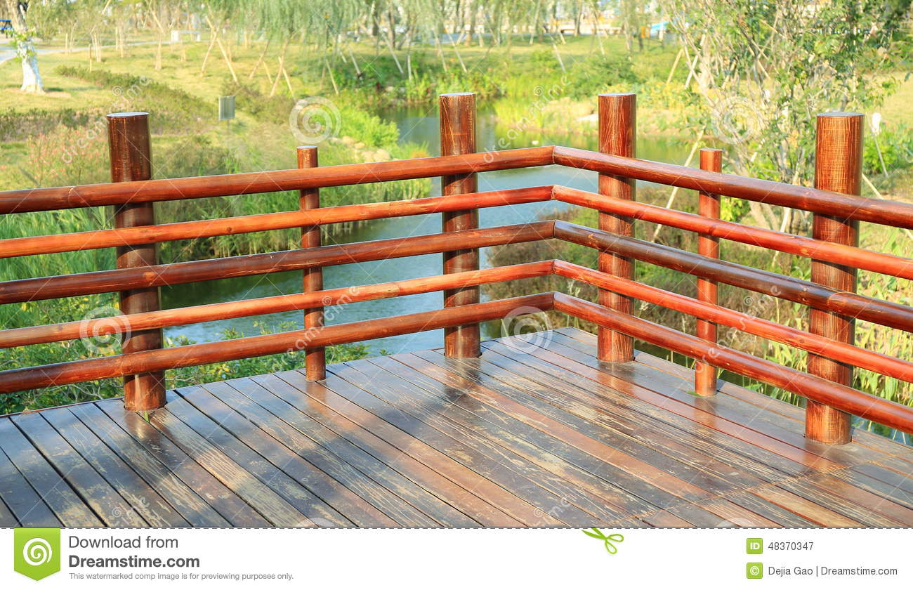 Wooden Deck Wood Outdoor Garden Patio Stock Image Image Of