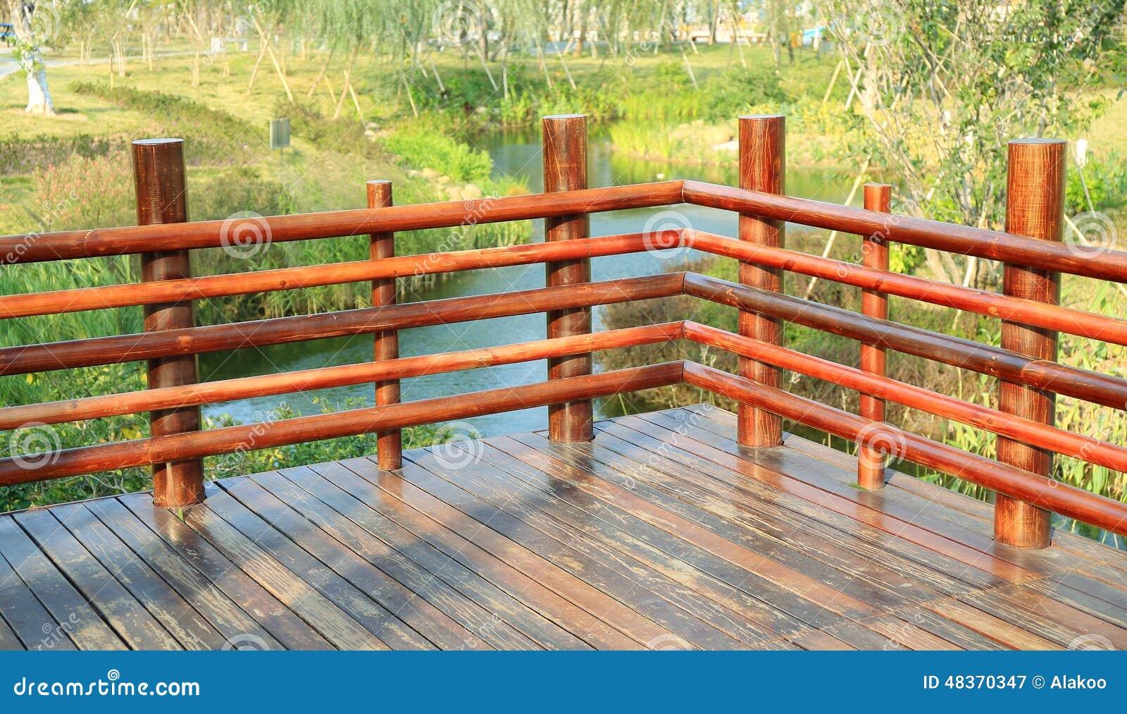 Wooden Deck Wood Outdoor Garden Patio Stock Photo Image