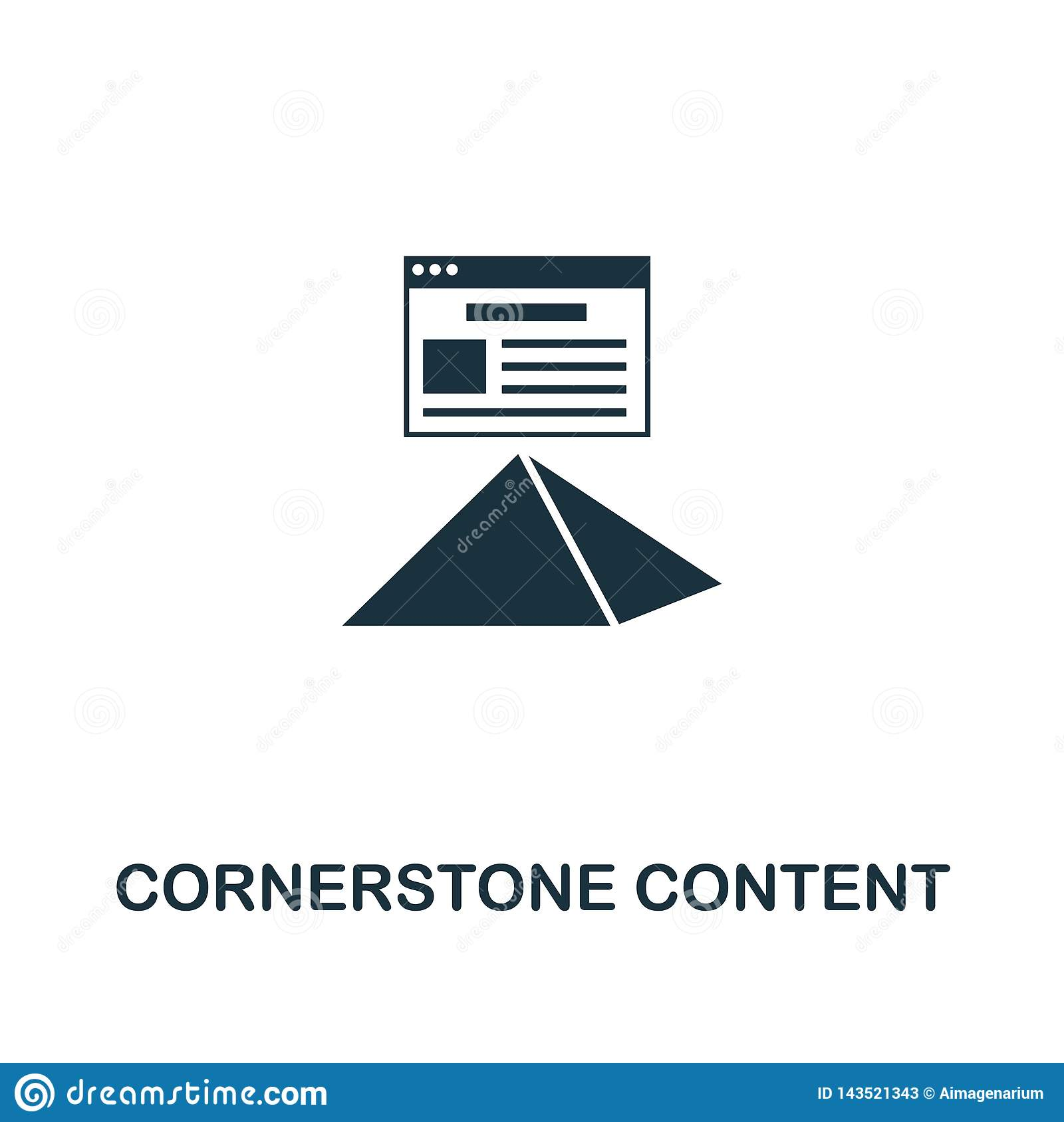 Cornerstone Content icon. Creative element design from content icons collection. Pixel perfect Cornerstone Content icon for web