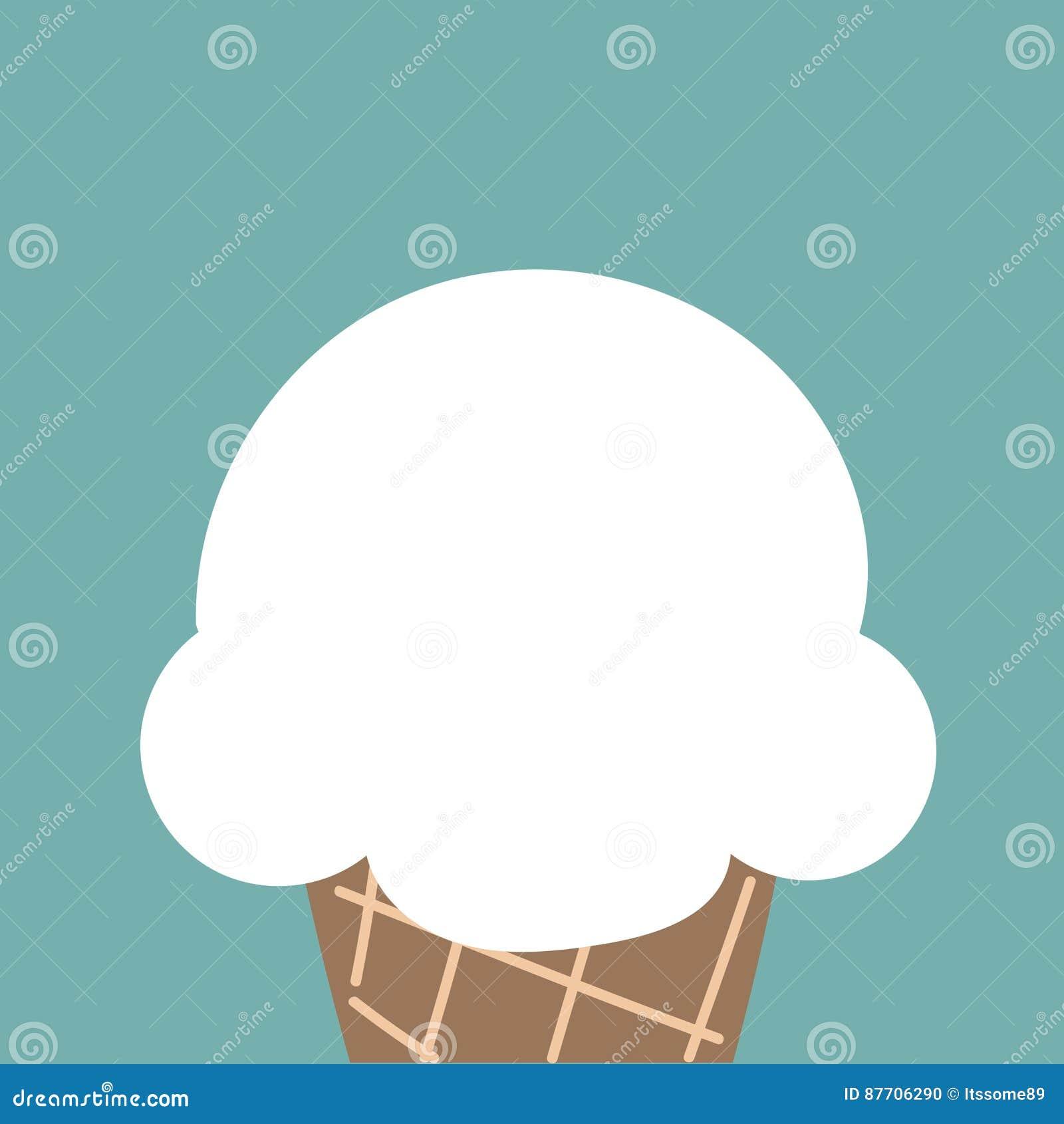 Cornet de crème glacée blanc mignon de nuage