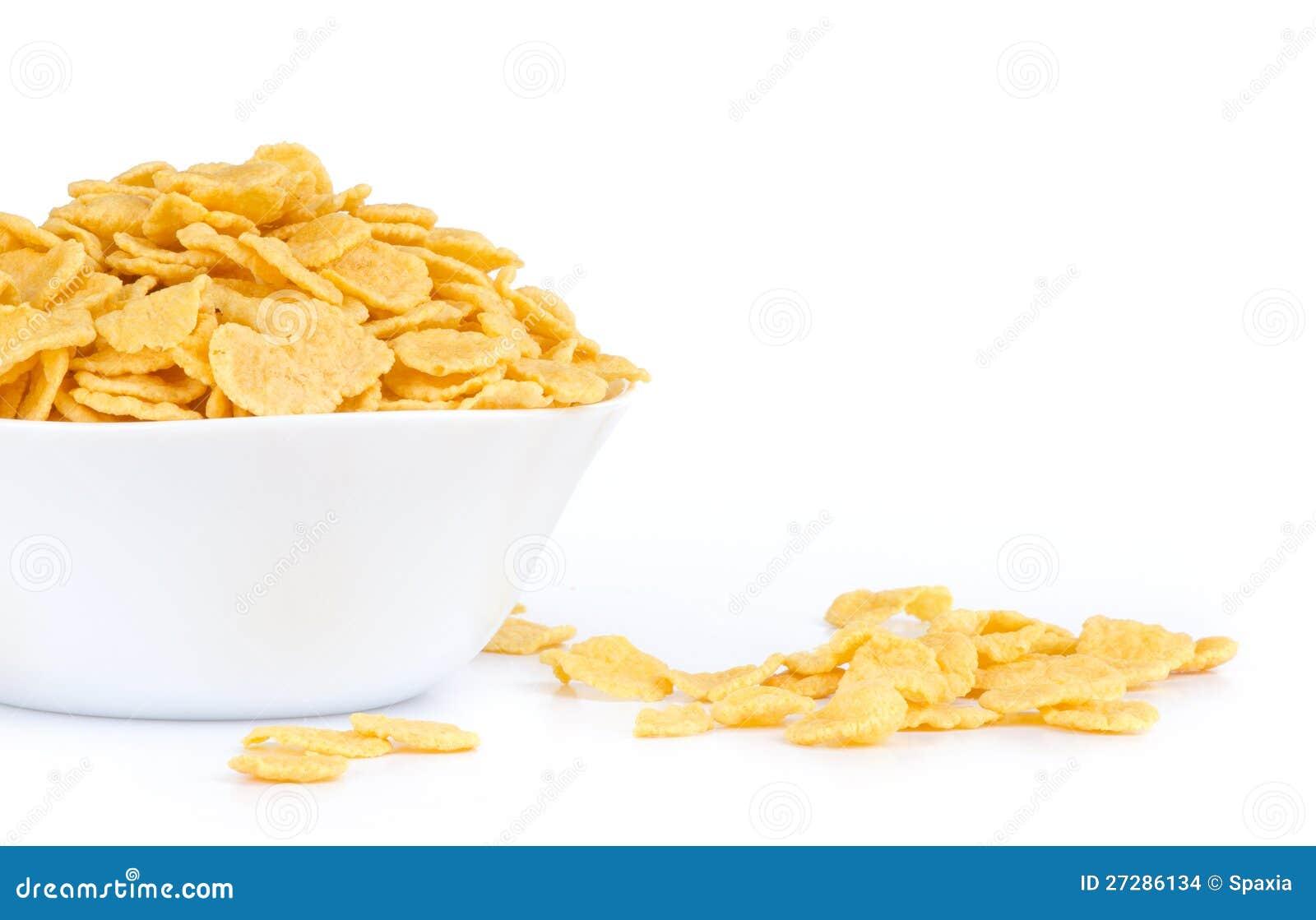 Cornflakes i en bunke