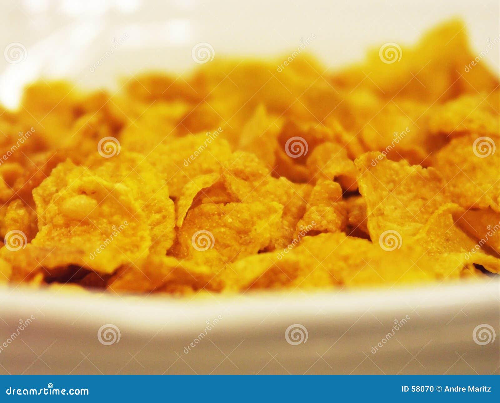Cornflakes para o pequeno almoço
