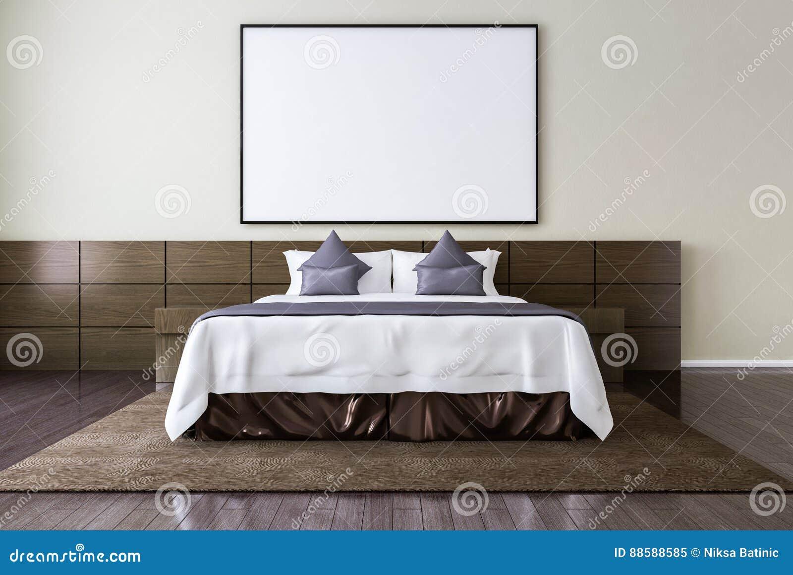 Cornice in bianco sulla parete nella camera da letto - Parete stanza da letto ...
