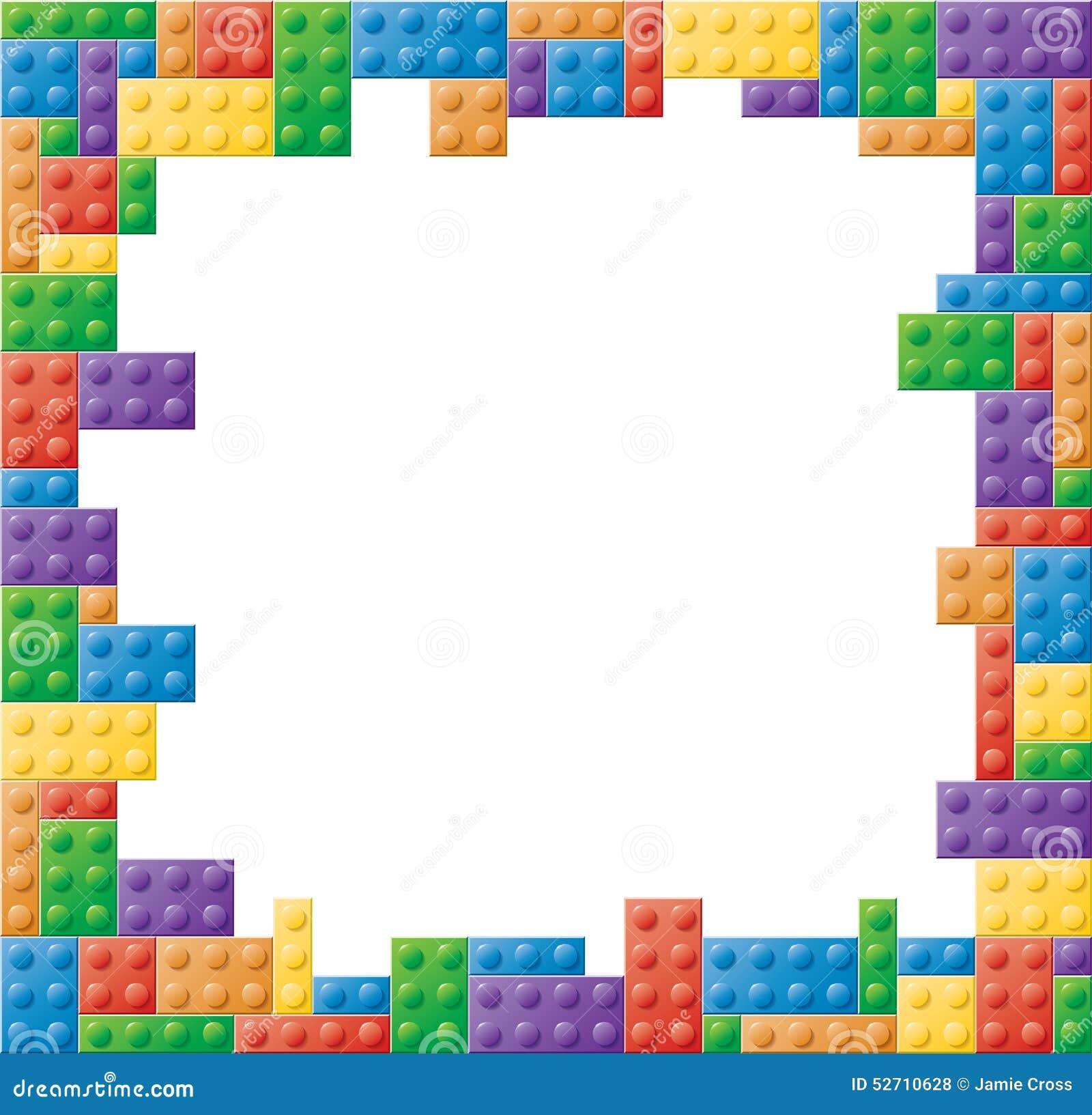 Cornice Colorata Quadrato Del Blocco Illustrazione