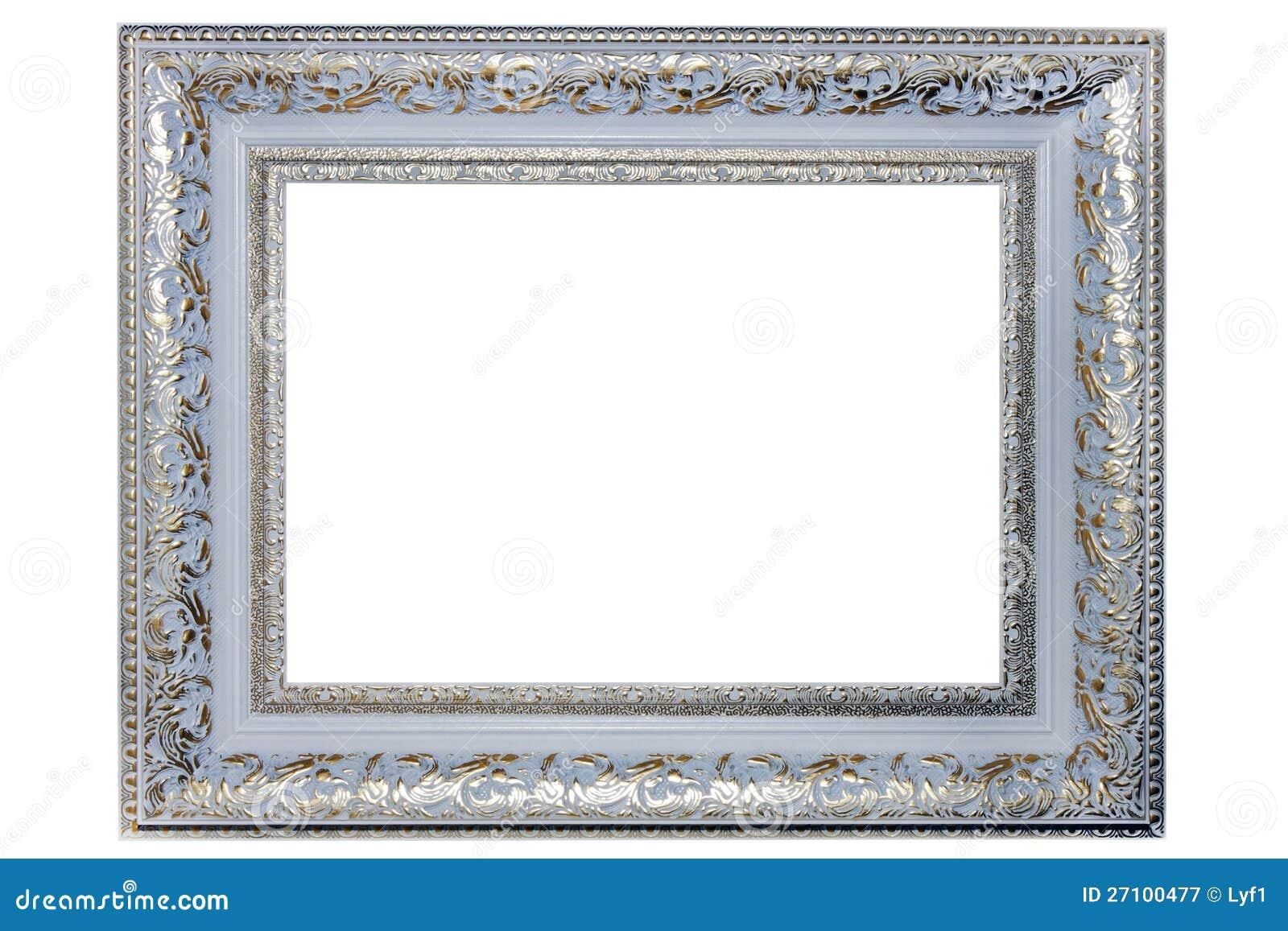 Cornice d 39 argento fotografia stock libera da diritti for Cornice bianca foto