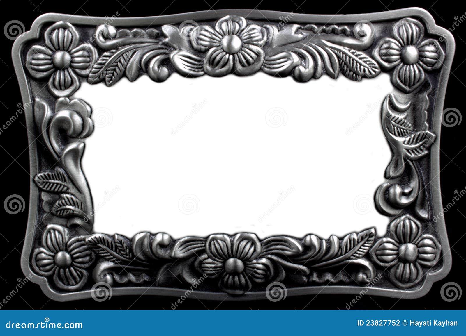 Cornice D'argento Antica Con Un Picchiettio Decorativo Fotografia ...