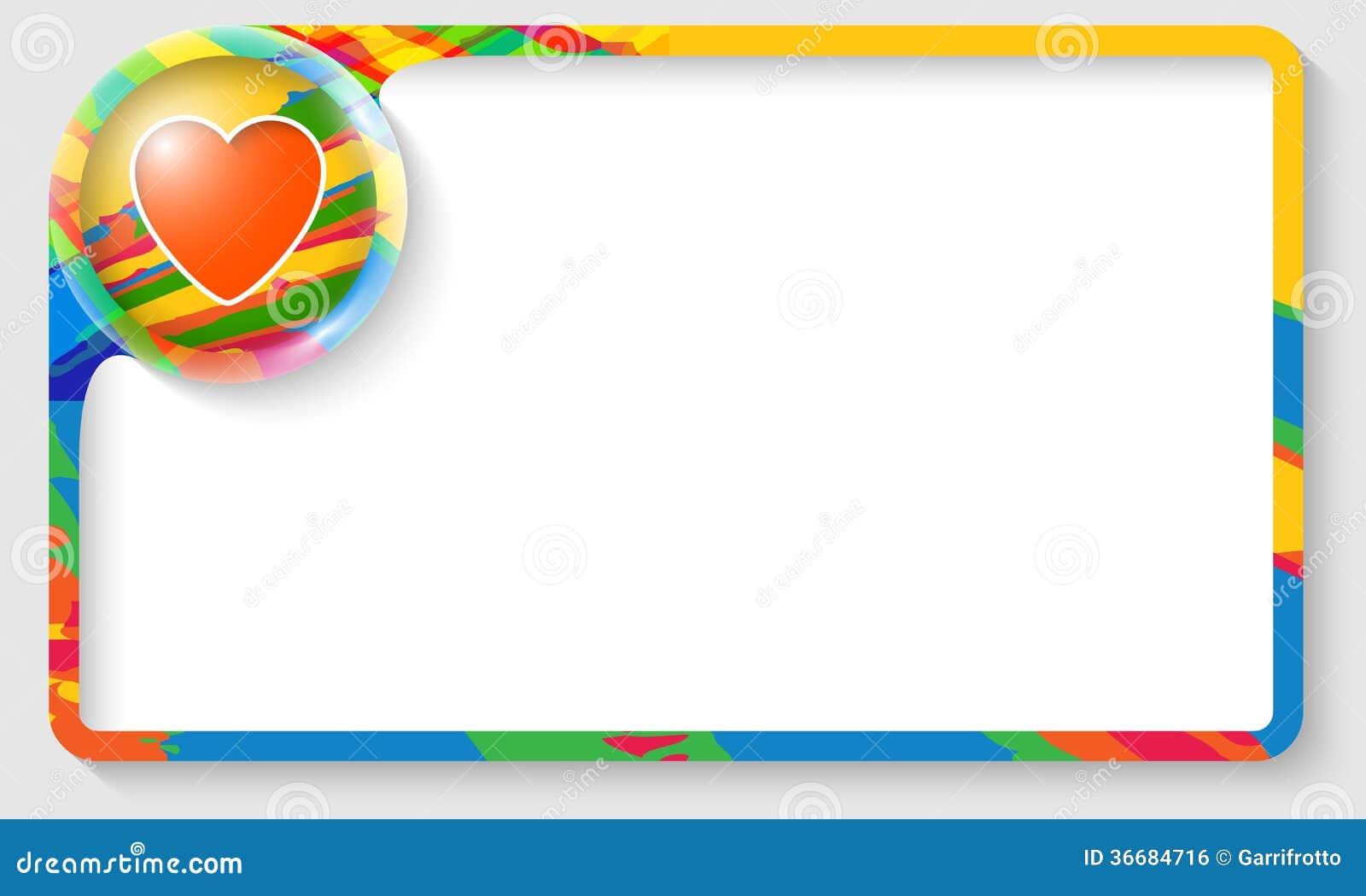 Cornici Colorate Per Foto cornice di testo colorata illustrazione vettoriale
