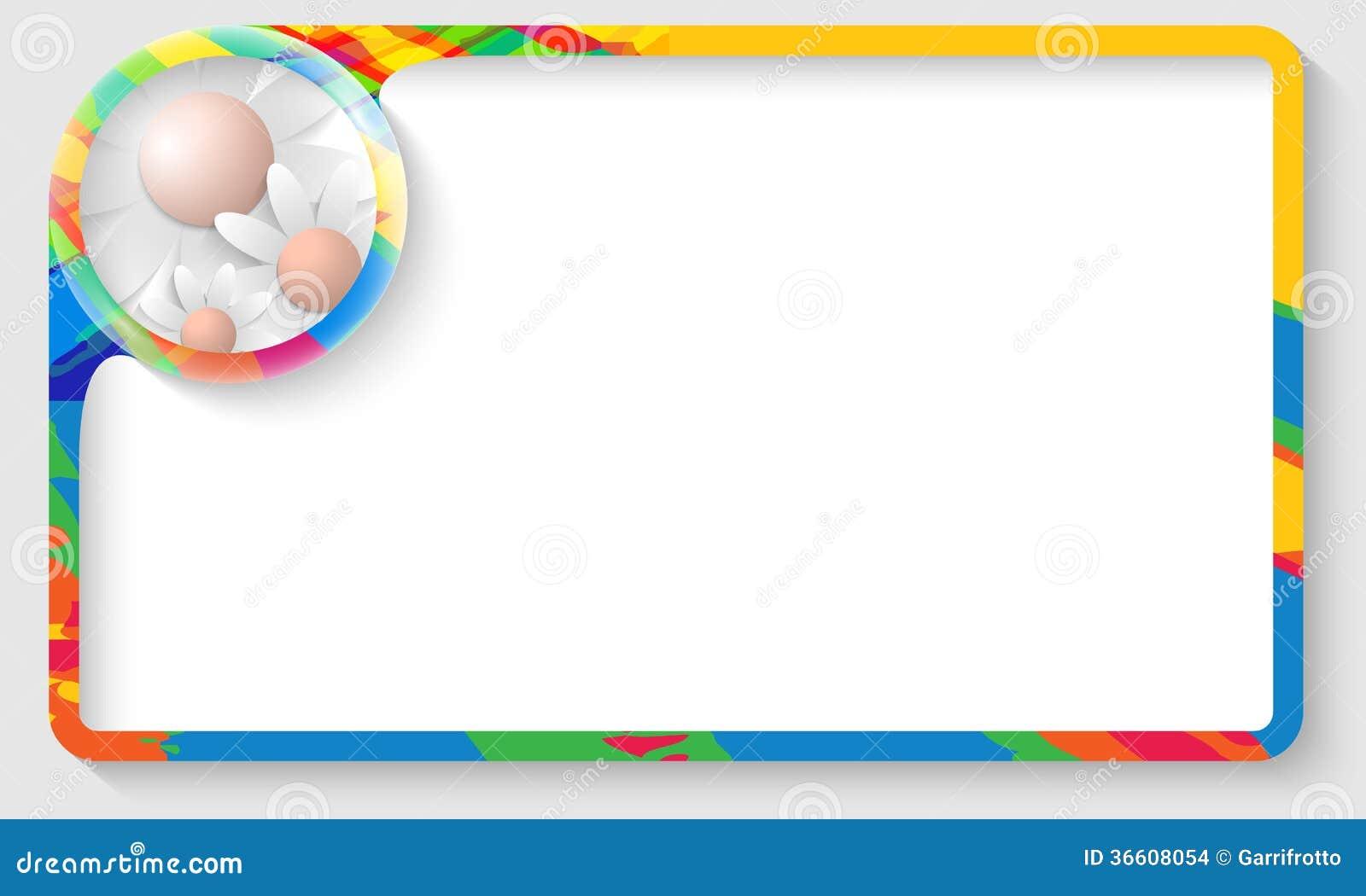 Cornice di testo colorata con i fiori immagini stock for Cornici per foto colorate
