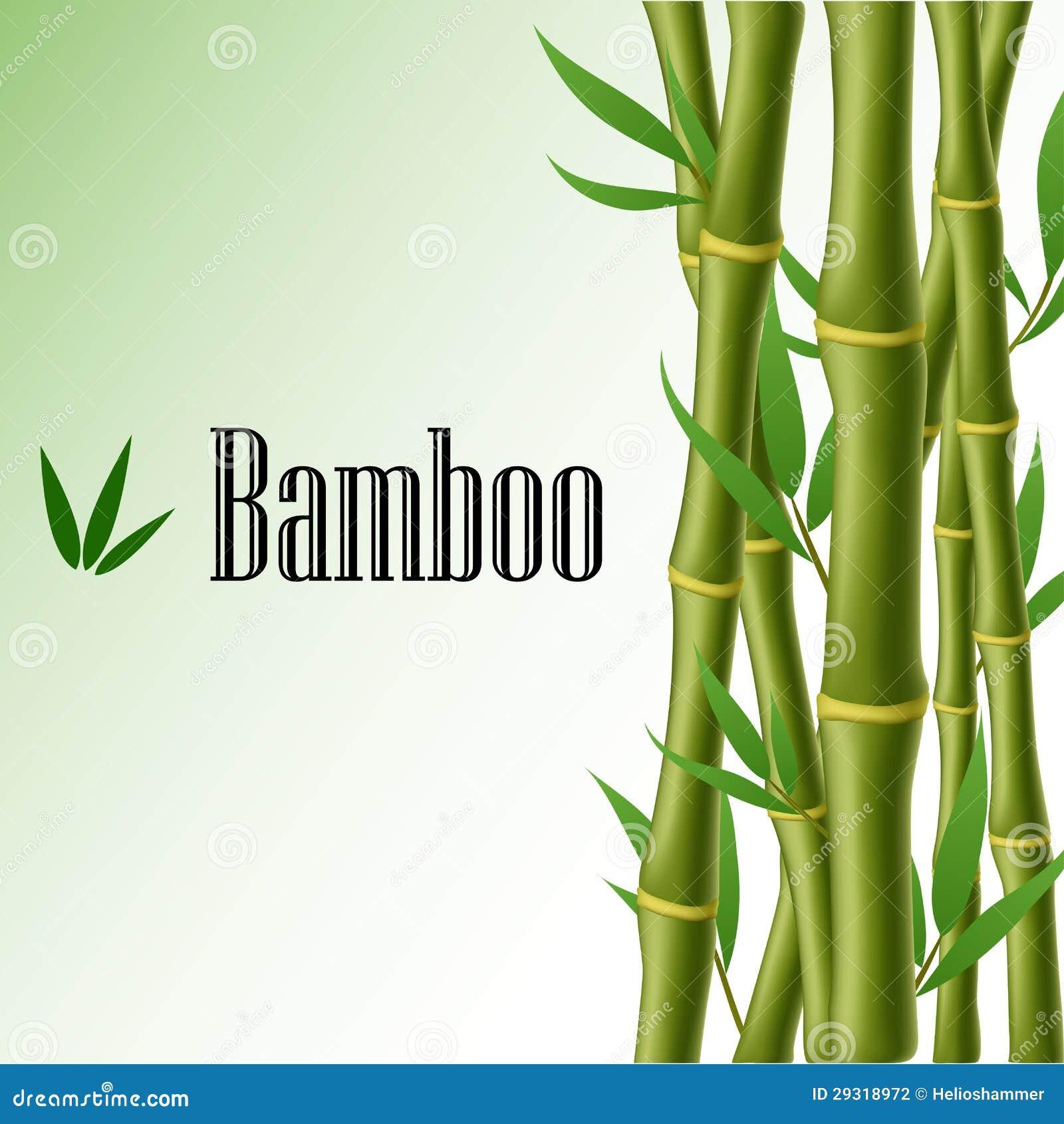 Cornice di testo di bambù