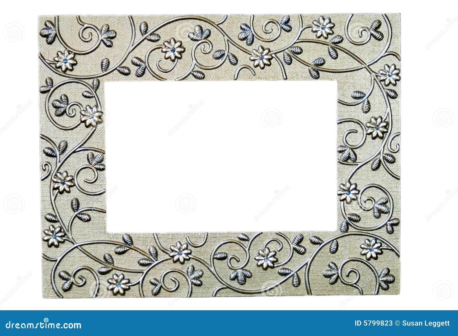 Cornice a filigrana d 39 argento immagine stock immagine di for Cornici per foto 10x15