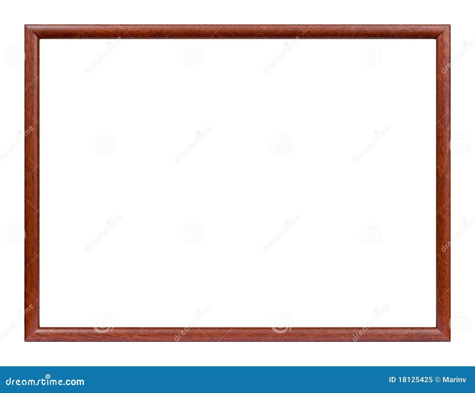 Cornice sottile di legno fotografia stock libera da for Cornice foto legno