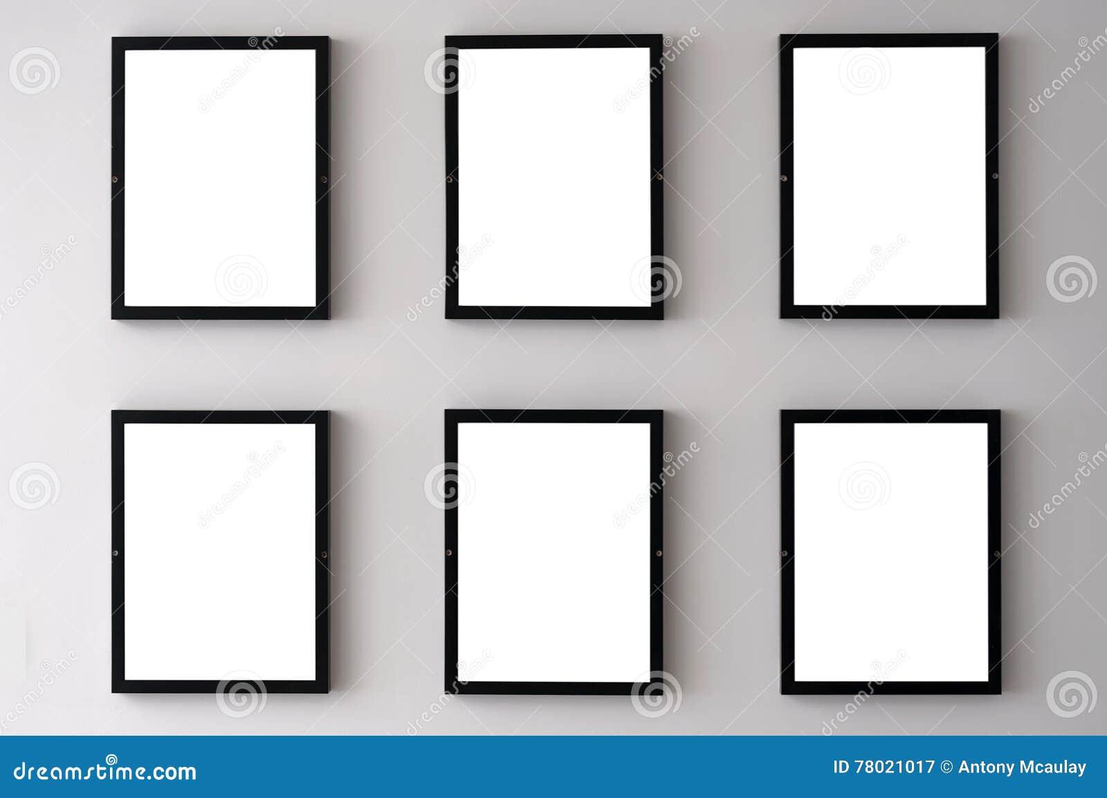 Cornici bianche della parete immagine stock immagine for Cornici bianche