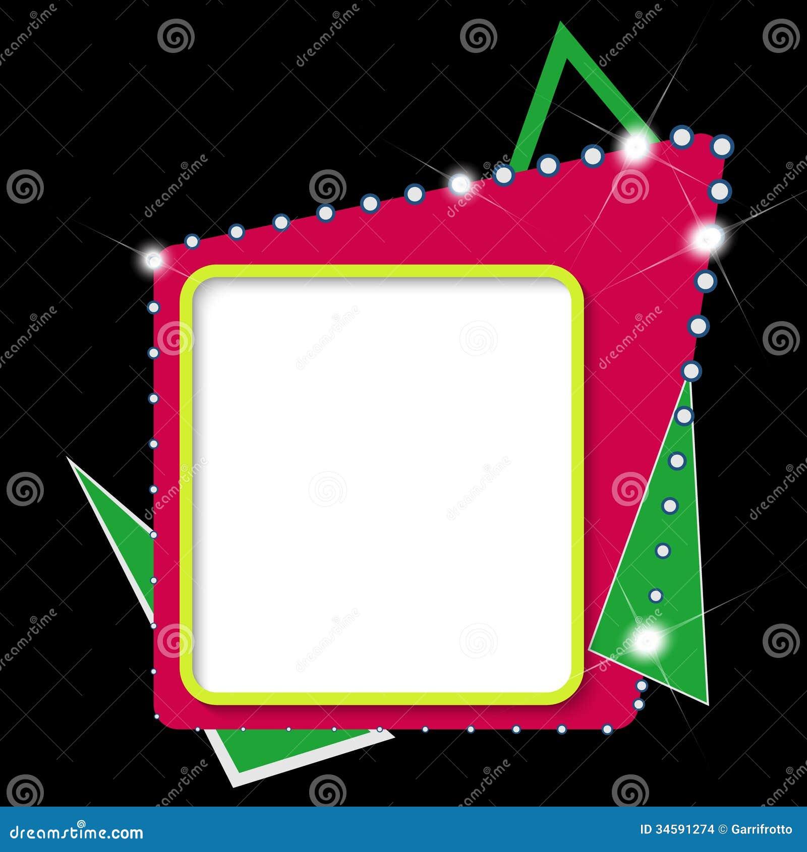 Cornici di testo astratte colorate immagini stock for Cornici per foto colorate