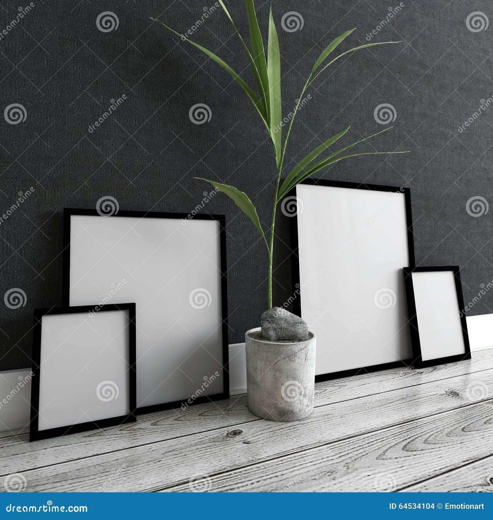 Download cornici e pianta in vaso dentro la casa moderna for Casa moderna pianta