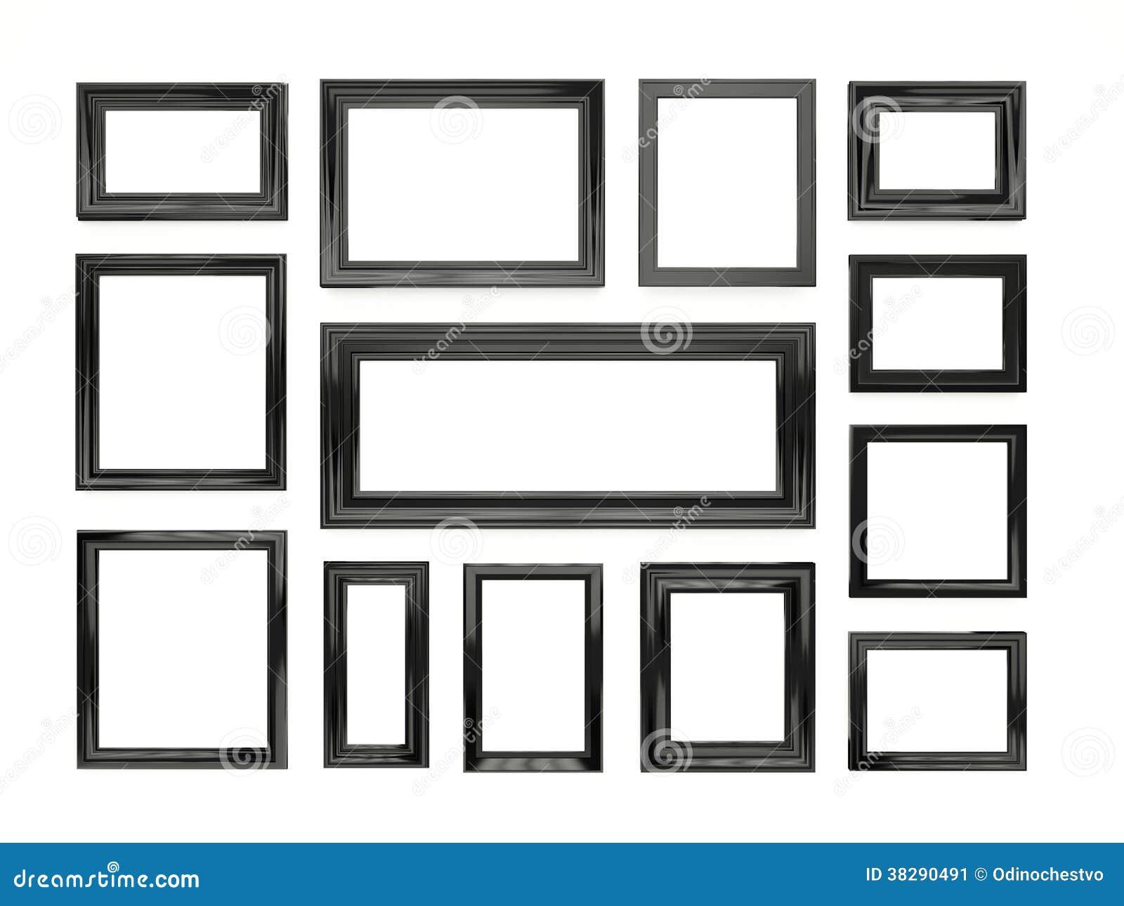 Cornici nere illustrazione di stock immagine di for Cornici nere ikea
