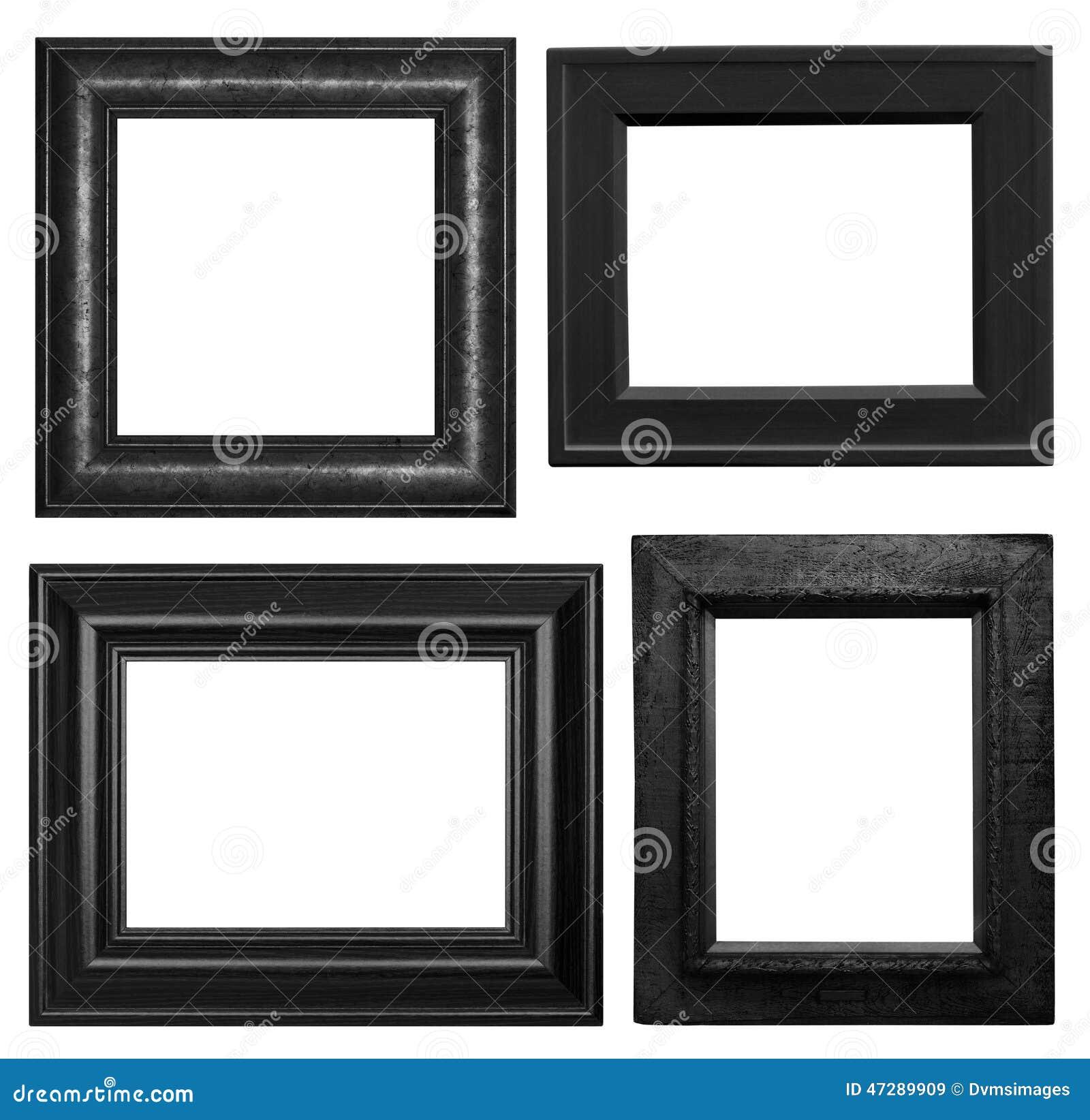 cornici nere fotografia stock immagine 47289909